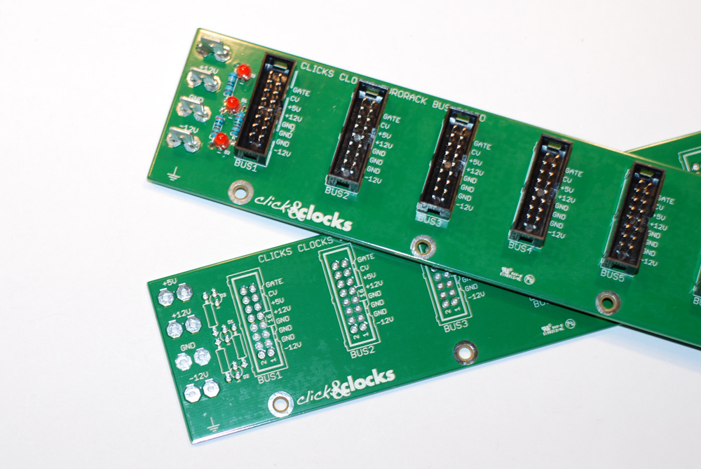 Clicks & Clocks Eurorack Bus Boards