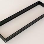 Eurorack DIY Materials: Clicks and Clocks 3U Frame, flexible width, Black Edition