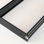 Eurorack DIY Materials: Clicks and Clocks 3U Frame, detail, Black Edition