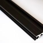 Eurorack DIY Materials: Rails, black anodised aluminium
