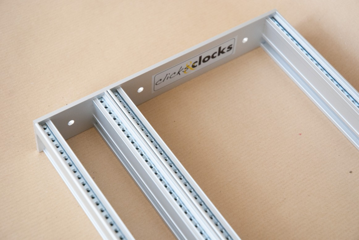 Eurorack DIY Materials: Clicks and Clocks 4U Frame, flexible width, silver anodised