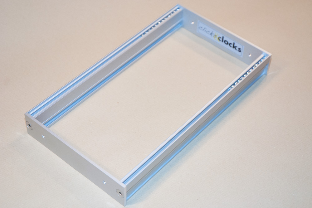 Eurorack DIY Frames: Clicks and Clocks 3U Custom Frame, 46HP, usable width, silver anodised
