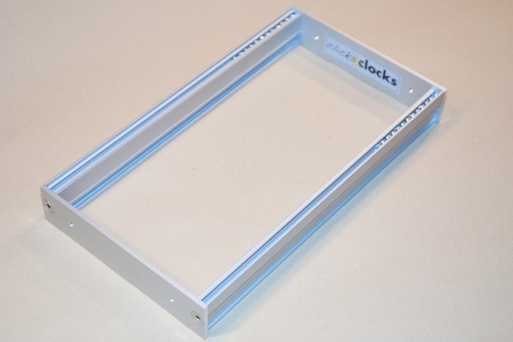 Eurorack DIY Frames: Clicks and Clocks 3U Custom Frame, 46HP, usable width, silver anodised