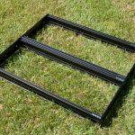 6U 60HP black anodised frame