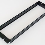 Eurorack DIY Materials: Clicks and Clocks 3U 19 inch Frame, Black Edition