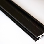 Eurorack DIY Materials: Rails, black anodised aluminium
