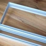Eurorack DIY Materials: Clicks and Clocks 4U Frame, flexible width, silver anodised